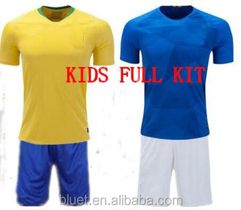 new style c5fdc 0806a Cheap High Quality Children Soccer Jersey 2018 World Cup Brazil Kids Soccer  Uniforms - Buy Youth Soccer Jersey,Kids Soccer Uniforms,Children Full Kit  ...