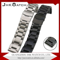 High qualily stainless steel watch strap with double insurance buckle metal watch band