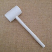 Small White Wooden Mallet Boys Toy Tool, Handy Kids Hammer Simulation Repair Tools Durable