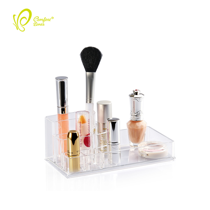 China Supply Acrylic Lipstick Makeup Storage Clear Acrylic Lipstick Holder for Cosmetic