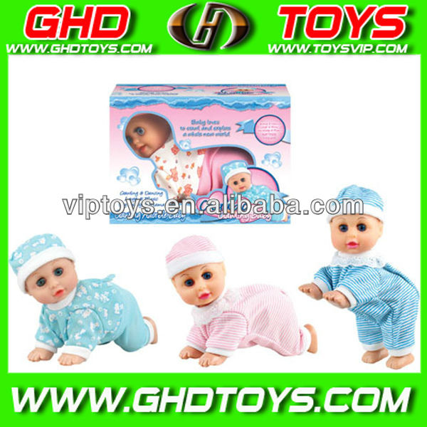 "8"" baby crawling battery children dolls"