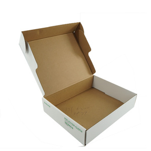Custom Printed White Corrugated Paper Mailing Packaging Boxes