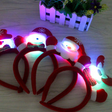 Christmas Led Flashing Headbands,Flashing Reindeer Antler Headband for Party