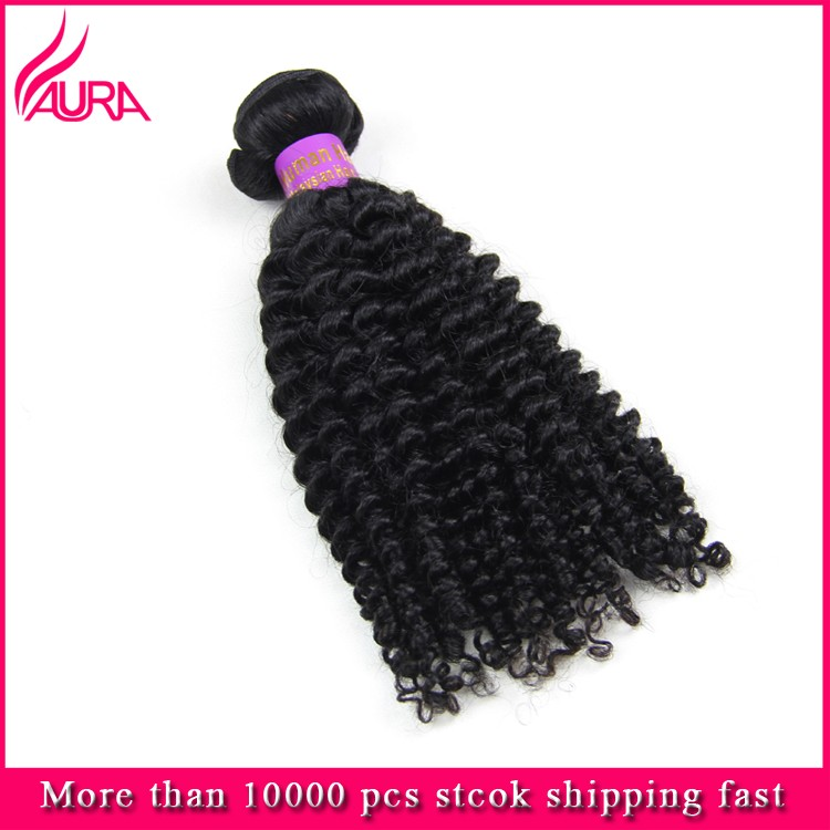 "8""-30""Best Quality Peruvian Virgin Hair Weft Hot Sale Cheap Kinky Curly Style"