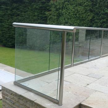Außen Aluminium U-kanal Basis Aus Gehärtetem Glas Balkon / Deck ...
