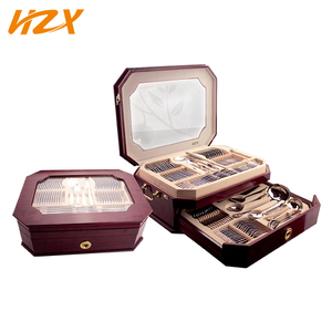 Wholesale Gold Plated 72 Pcs Flatware Set , Stainless Steel Cutlery Set 72 For Restaurant /Hotel/Home