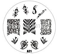 2015 new A Series A21 Nail Art Polish DIY Stamping Plates Image Templates Nail Stamp Stencil