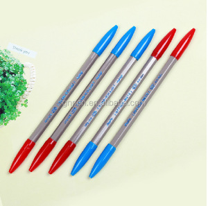 High Quality Two heads Ball Point Pen Double-side Ball pen 2 color Ball Pen