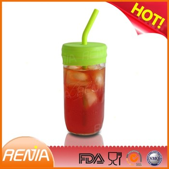 RENJIA large drinking straws heart shaped plastic drinking straws silicone drinking straws