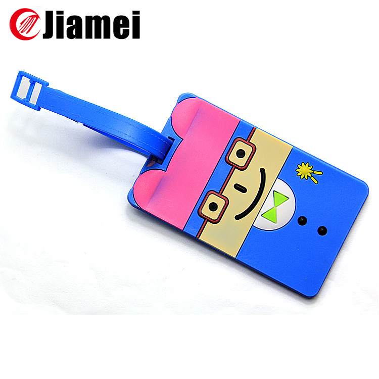 Bussiness gift standard size soft pvc plastic id card luggage tag