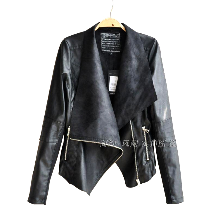 2015 Leather Jackets For Women Spring And Autumn Plus Size Women Clothing 4XL Chaquetas Cuero Woman PU Motorcycle Jacket Fashion