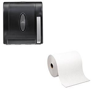 KITGEP26470GEP54338 - Value Kit - Georgia Pacific Hardwound Roll Paper Towel (GEP26470) and Georgia-Pacific Vista 54338 Black Hygienic Push Paddle Roll Paper Towel Dispenser (GEP54338)