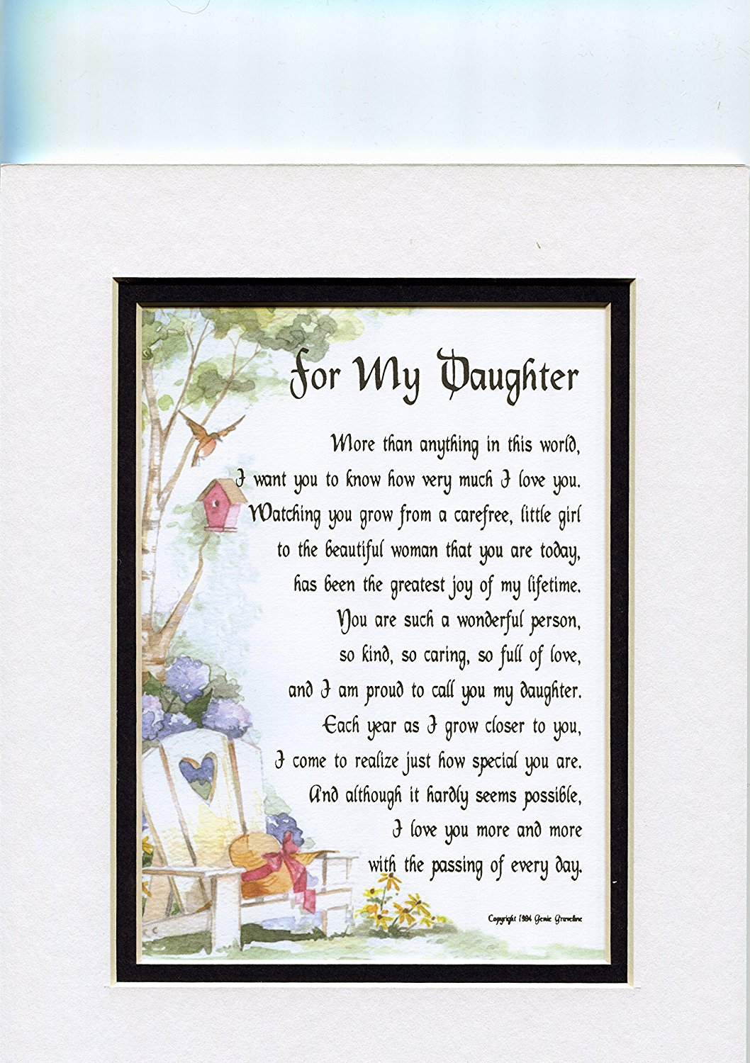 Present Gift Poem For An Older Daughter 47a 18th 21st 30th Birthday