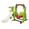 Adorable Colorful Elephant Shape Plastic Slide With Swing