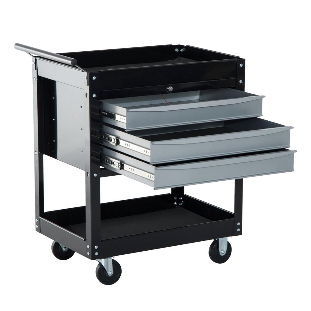 Metal Tool Cart 3 Drawers With Bbs