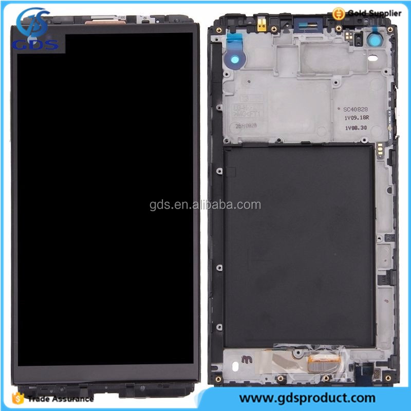 Gold LCD Display And Touch Digitizer Screen And Frame Bezel For LG V20