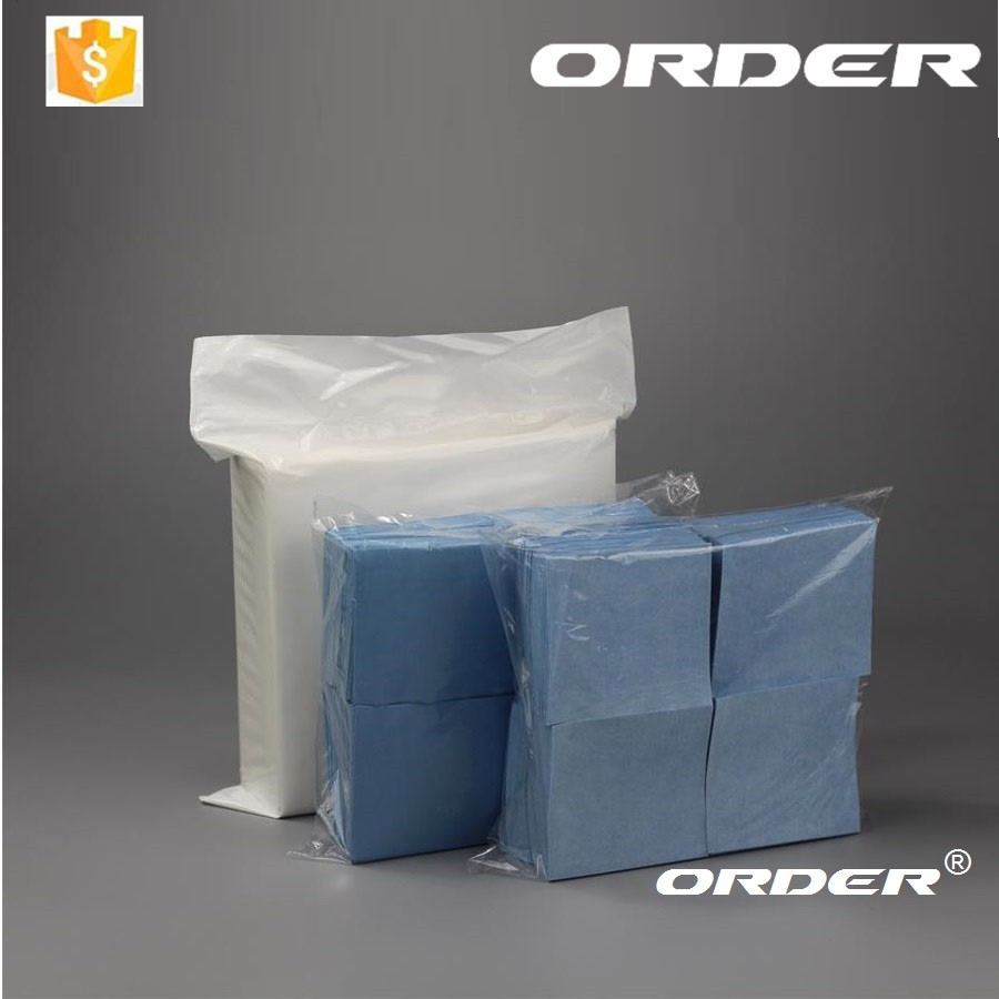56gsm 300 sheets/bag 9''*9'' Flat sheet all purpose industrial wipes