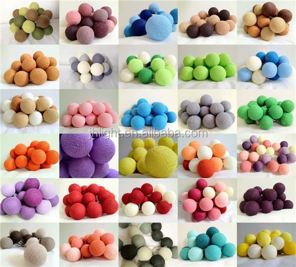 Decorative Ball Lights Captivating Colorful Cotton Ball Decorative String Light Cotton Ball Lights Design Inspiration