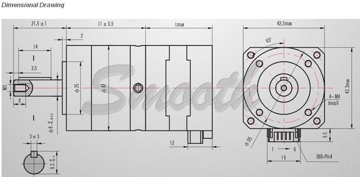 Nema 17 with planetary gear box 5 100 to 1 ratio buy for Nema stepper motor frame sizes
