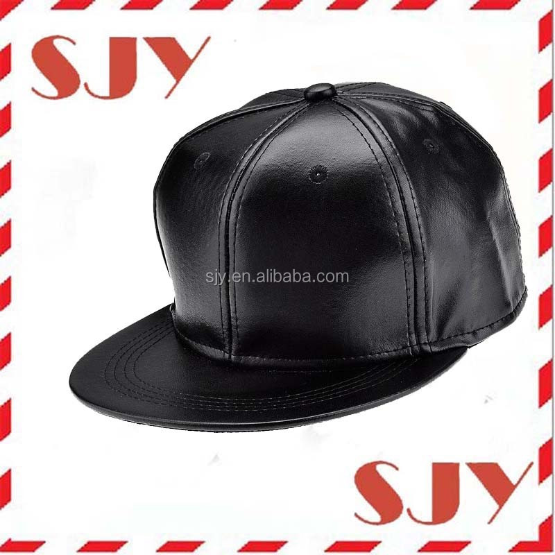 fitted brown leather baseball cap hat caps black