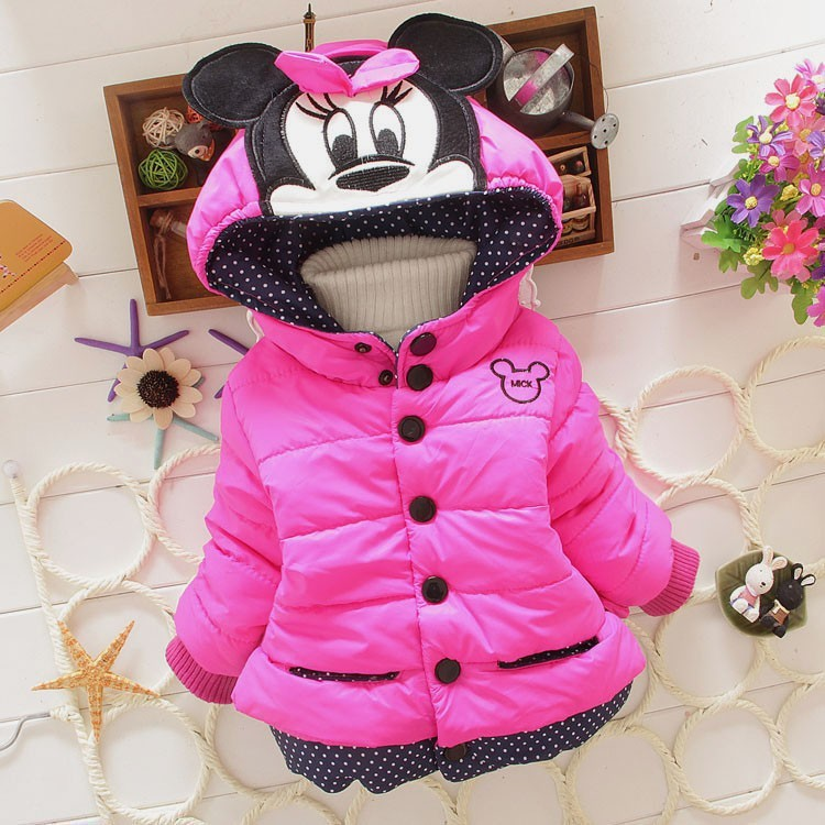 New 2015 baby kids coat for children children outerwear coats girls winter Minnie coat kids jackets