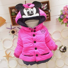 New 2015 baby kids coat for children,children outerwear & coats, girls winter Minnie coat,kids jackets,casual baby clothing