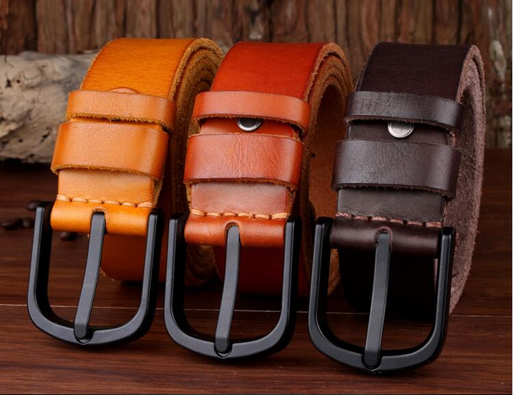 Men's casual fashion leather <strong>belt</strong> top layer cowhide <strong>belt</strong> alloy buckle washing <strong>belt</strong>