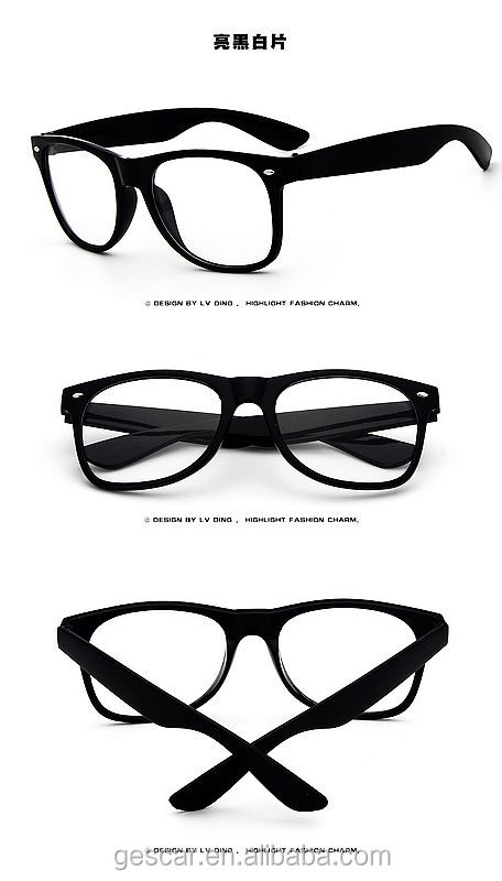 stylish simple clear lens glasses plain vintage sunglasses wholesale