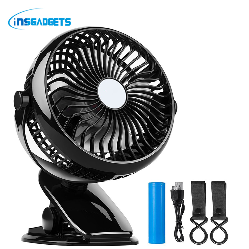 Battery Operated USB Fan with Clip for Baby Stroller ,Car ,Gym,Office, Outdoor, Travel,Camping