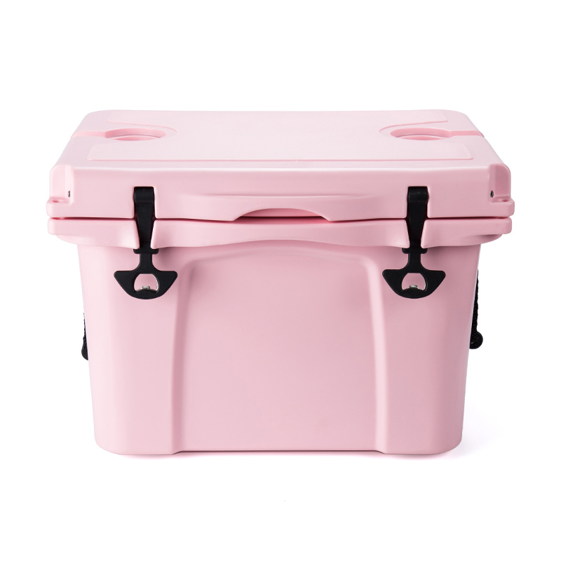 Everich Elite Cooler Box, Ice Chest Cooler Box with Lock Wheel/Hard Coolers Keep Food Fresh Perfect for Fishing Boating