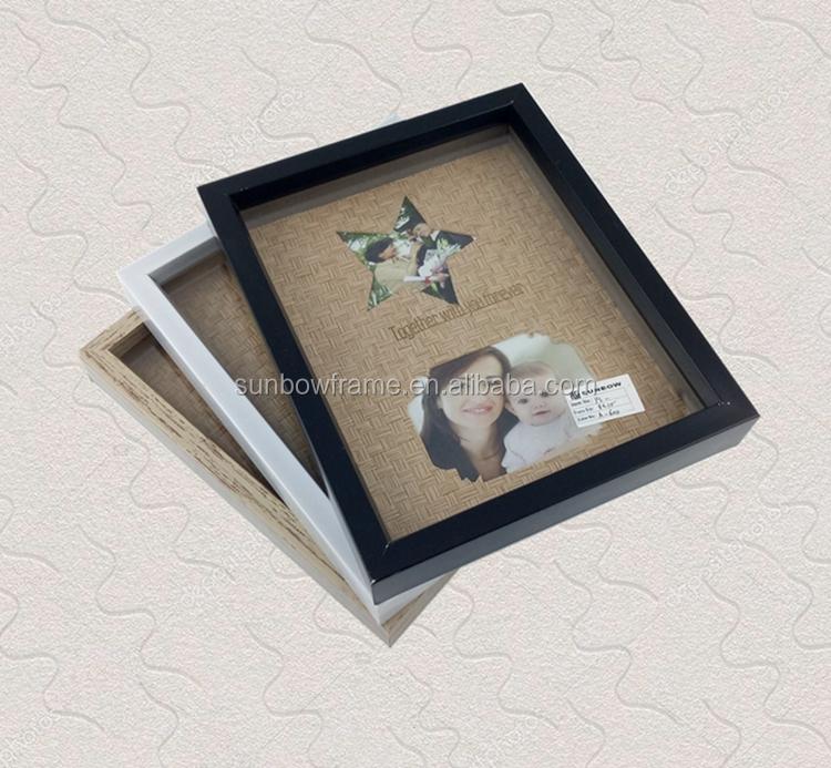Weiß Schwarz Holz Farbe Dekorative Shadow Box Bilderrahmen 8x10 ...