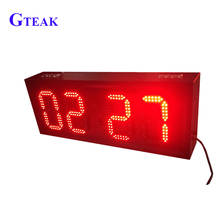 Single color low price led digital clock display sign board