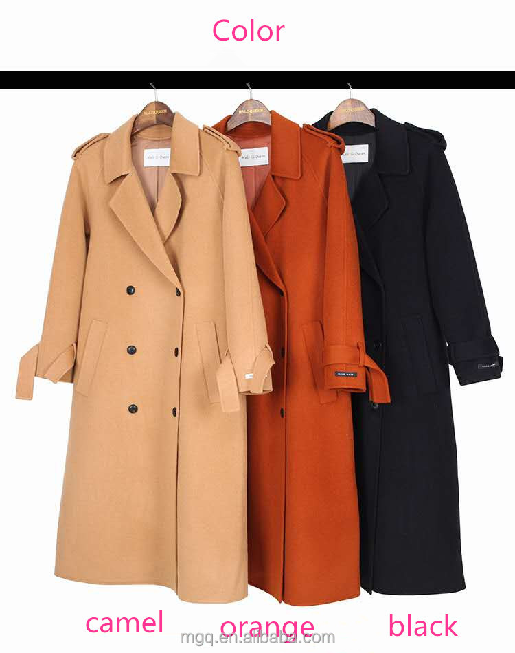 factory price cashmere wool women european fashion winter coats