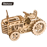 Robotime Gear Drive LK401 Tractor Mechanical Models 3D wooden puzzle adults and kids toys