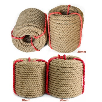 5-60mm Best Quality Factory Bulk 6mm Jute Sisal Natural Hemp Manila Rope