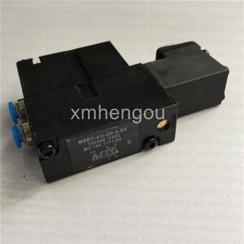 4 pieces free shipping solenoid valve for heidelberg printing machine M2.184.1111/05 MEBH-4/2-QS-4-SA Heidelberg parts