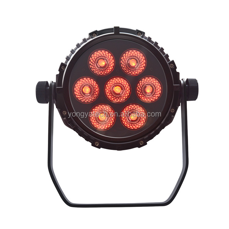 Stage Lighting Effect Outdoor Waterproof 7*18w Led Par Light Ip65 Waterproof Stage Light 7x18w Led Par 64 Wall Wash Wedding Show Light