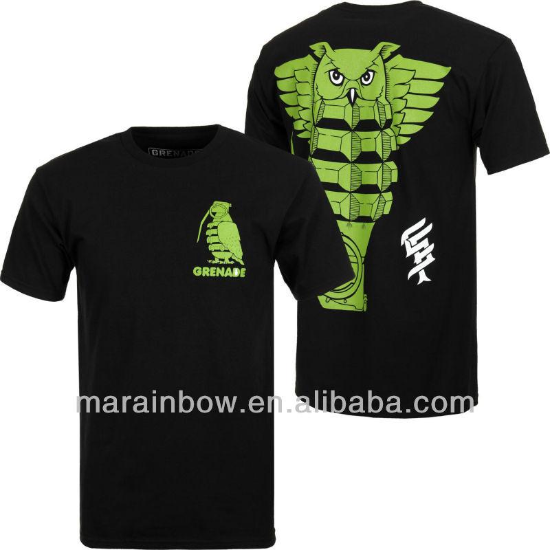 Plain Design Solid Black Color Crew Neck Fashion Cotton T Shirts ...