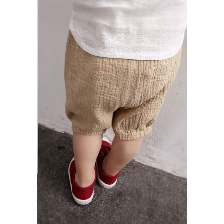 kids clothes plain color summer cotton half balloon pants