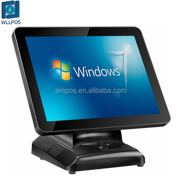 1920*1080 high resolution dual 15.6 inch big screen window system based  POS terminal