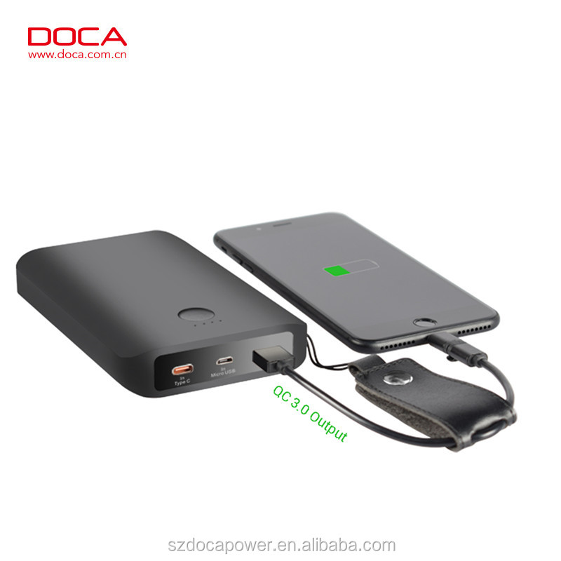 2017 New Power Bank Made in China 12500mah Quick Charge 3.0 Power Bank Qualcomm Standard QC 3.0 Power Bank for Smartphone/Tablet