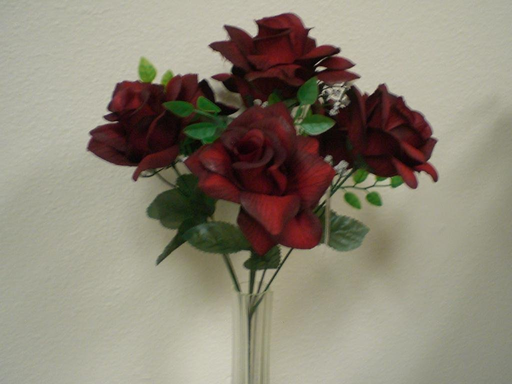 Cheap rose bushes wholesale find rose bushes wholesale deals on get quotations 2 bushes black red open rose silk flower 15 bouquet 7 039bkrd mightylinksfo