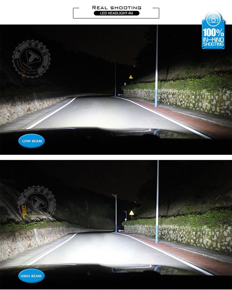 China Auto Parts Supplier 7200/9600lm Car Led Headlight,R4 Led ...