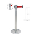 910mm Stainless Steel Retractable Queue Barrier Pole