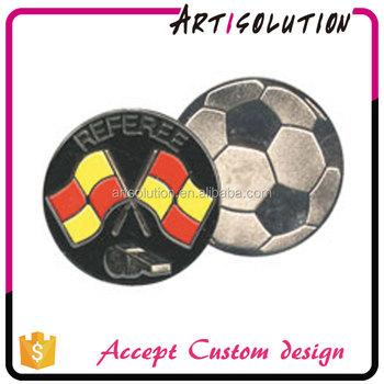Custom Embossed New Design Enamel Soccer Football Referee Toss