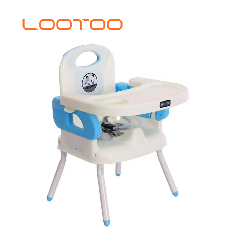 3 in 1 folding children plastic feeding seat chair for travel with safety belt