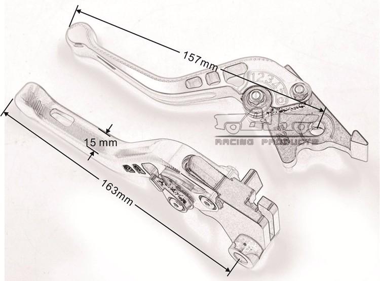Bj-ls-013 3d Cnc Short Clutch Brake Lever For Ktm 200 125 ...