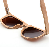 High Quality Private Label Own Brand Factory Sunglasses Italy 100% Bamboo Wood Polarized Bulk Clip On Sun Glasses Sunglasses
