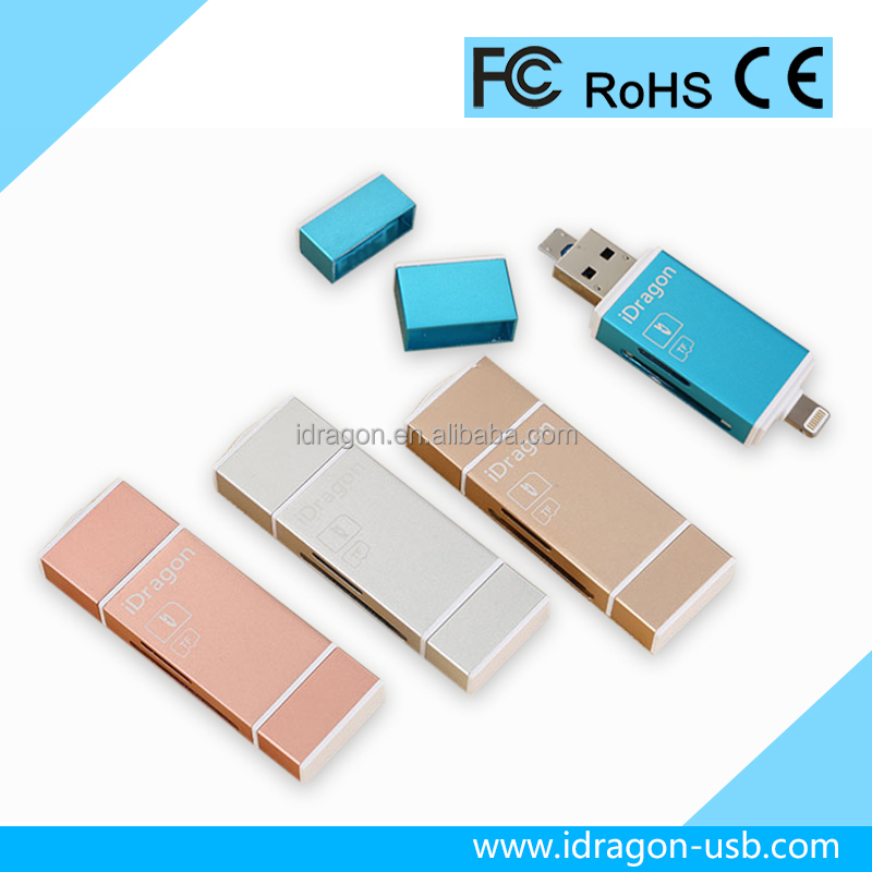 Micro USB memory module rfid card reader/writer for iphone 7