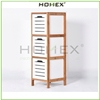Freestanding Bath Storage Floor Cabinet 3 Drawers 3 Shelves Bamboo / Homex-BSCI_FSC